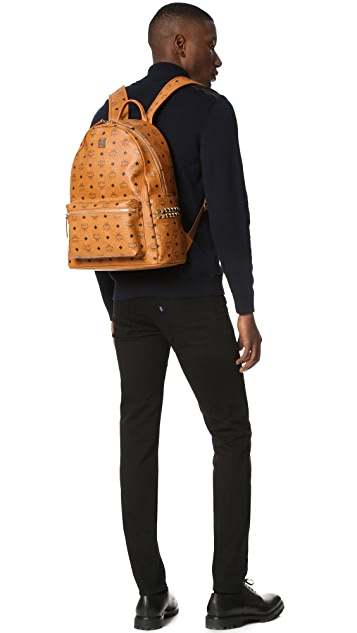 MCM Stark Medium Side Stud Backpack