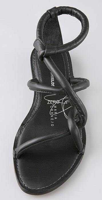 Eileen Shields for Zero + Maria Cornejo Tubular Flat Sandals