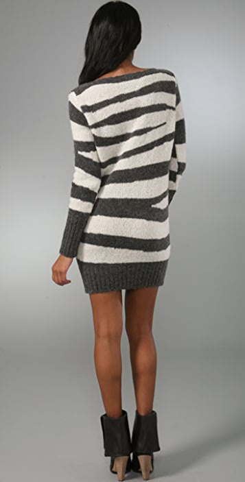 McQ - Alexander McQueen Zebra Sweater Dress