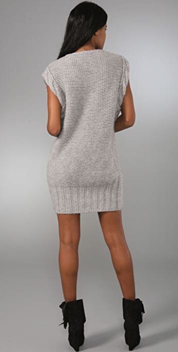 McQ - Alexander McQueen V Neck Cable Knit Dress