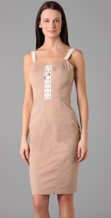McQ - Alexander McQueen Lace Up Dress