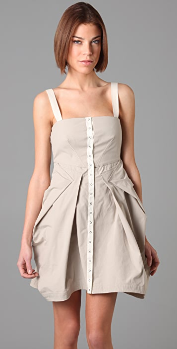 McQ - Alexander McQueen Sleeveless Dress with Fold Details