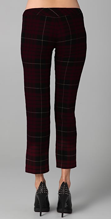 McQ - Alexander McQueen Plaid Trousers with Zippers