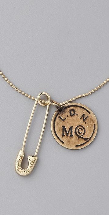 McQ - Alexander McQueen Doc Tag Necklace