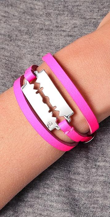 McQ - Alexander McQueen Razor Triple Wrap Bracelet
