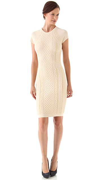 McQ - Alexander McQueen Cap Sleeve Knit Dress