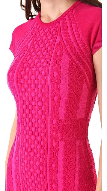 McQ - Alexander McQueen Cap Sleeve Knit Dress