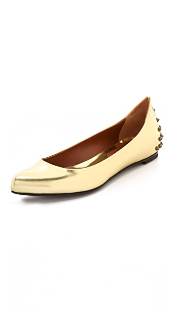 McQ - Alexander McQueen Studded Pointy Flats