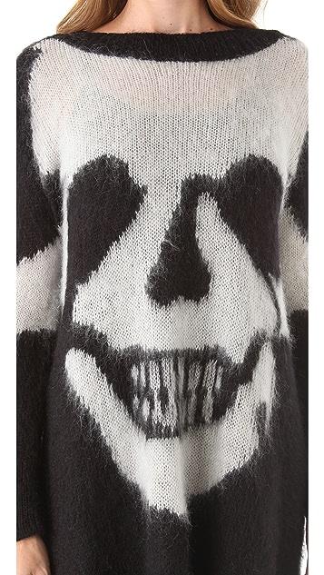McQ - Alexander McQueen Skull Intarsia Sweater Dress