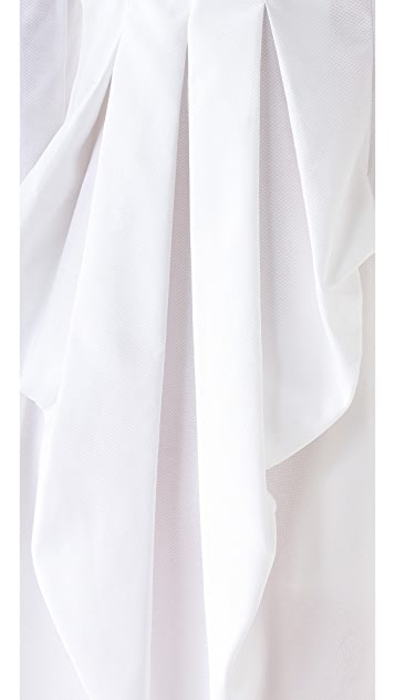 McQ - Alexander McQueen Drape Back Ruffle Dress