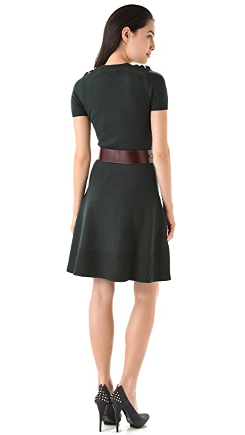 McQ - Alexander McQueen Knit Dress with Short Sleeves