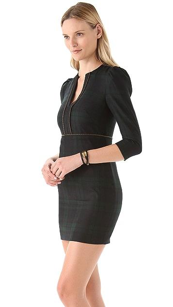 McQ - Alexander McQueen Slash Neck Plaid Dress