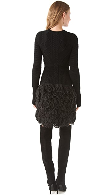 McQ - Alexander McQueen Loop Stitch Cable Dress