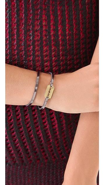 McQ - Alexander McQueen Metallic Leather Wrap Bracelet