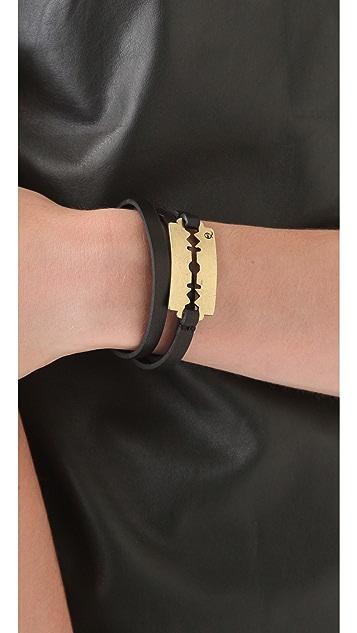 McQ - Alexander McQueen Leather Razor Wrap Bracelet