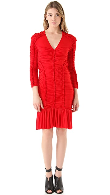McQ - Alexander McQueen Gathered Mini Dress