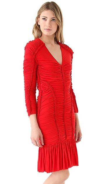 McQ - Alexander McQueen Gathered Mini Dress