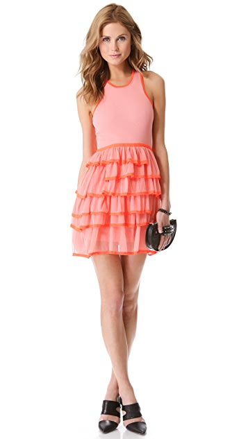 McQ - Alexander McQueen Frill Knit Sleeveless Dress