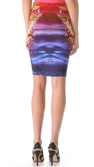 McQ - Alexander McQueen Contour Printed Skirt