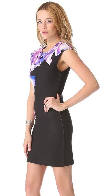 McQ - Alexander McQueen Iris Print Cap Sleeve Dress