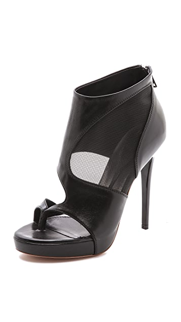 McQ - Alexander McQueen Sheer Block Booties