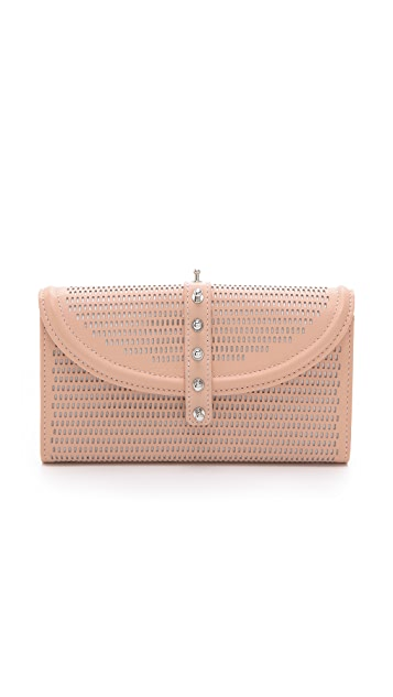 McQ - Alexander McQueen Perforated Collar Stud Flap Wallet