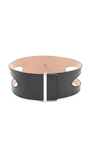 McQ - Alexander McQueen Scoop Metal Clasp Belt