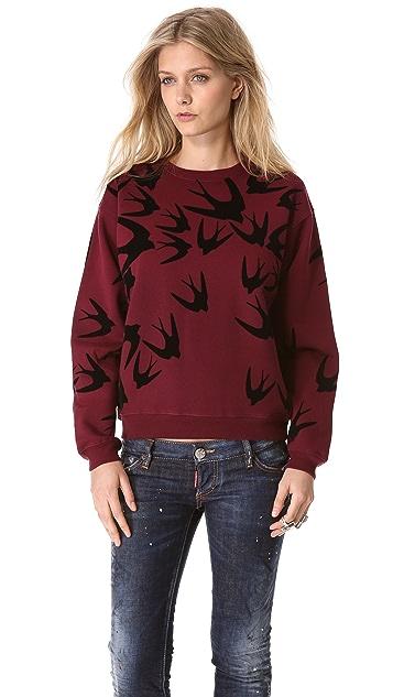 McQ - Alexander McQueen Swallow Flock Sweatshirt