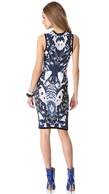 McQ - Alexander McQueen Print Sleeveless Dress