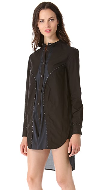 McQ - Alexander McQueen Hook & Eye Shirtdress Tunic