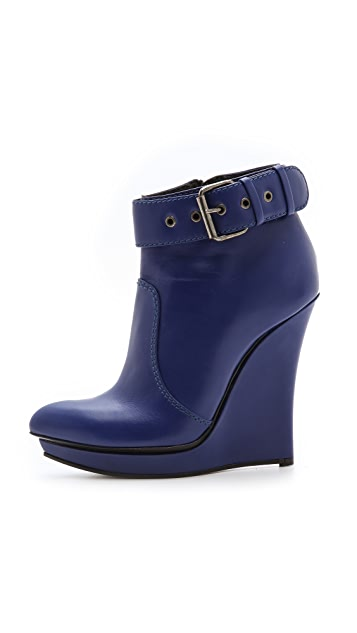 McQ - Alexander McQueen Biker Slim Wedge Booties