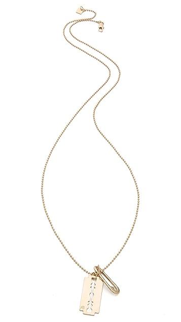 McQ - Alexander McQueen Razor Blade Pendant Necklace