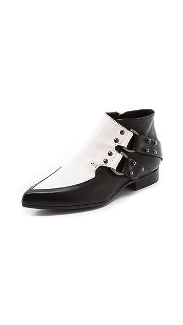 McQ - Alexander McQueen D Ring Flat Booties