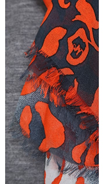 McQ - Alexander McQueen Animal Print Scarf