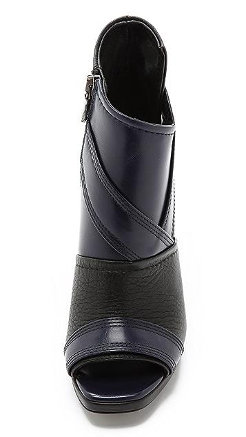 McQ - Alexander McQueen Lara Peep Toe Booties