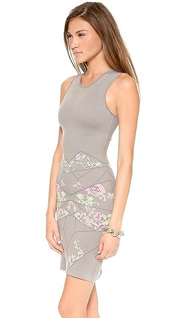 McQ - Alexander McQueen Rose Body Con Dress