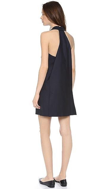 McQ - Alexander McQueen Tuxedo Halter Dress