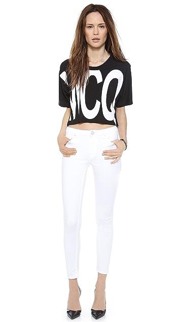 McQ - Alexander McQueen Cropped McQ T-Shirt