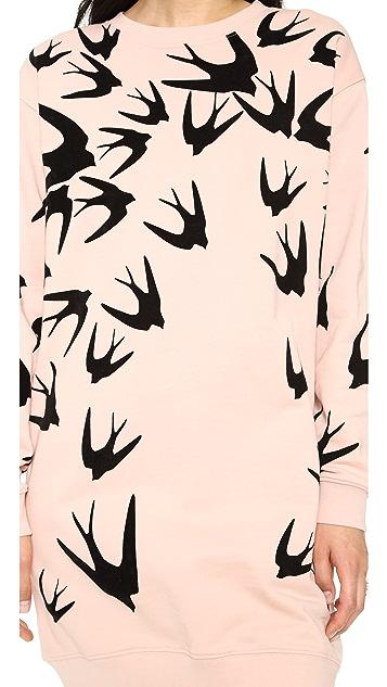 McQ - Alexander McQueen Sweatshirt Swallow Dress