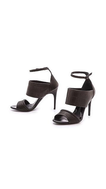 McQ - Alexander McQueen Croc Sandals