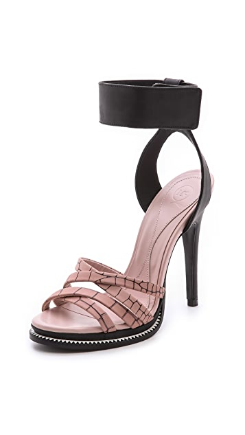 McQ - Alexander McQueen Ankle Strap Wedge Sandals