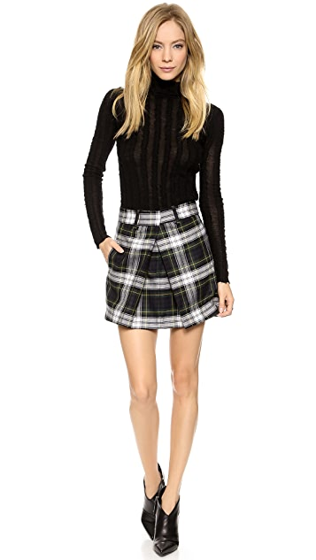 McQ - Alexander McQueen Front Pleat Skirt