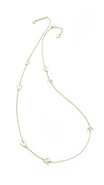McQ - Alexander McQueen Asymmetric Swallow Necklace