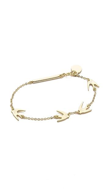 McQ - Alexander McQueen Asymmetric Swallow Bracelet