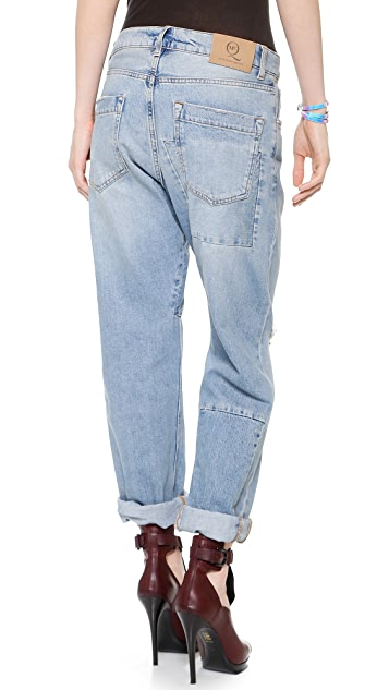 McQ - Alexander McQueen Patched Boyfriend Jeans