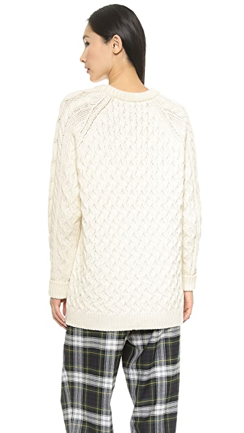 McQ - Alexander McQueen Oversized Cable Knit Sweater