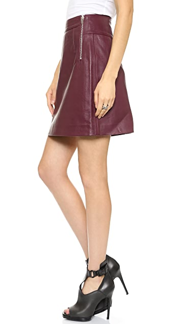 McQ - Alexander McQueen Side Zip Leather Skirt