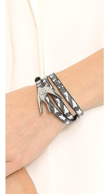 McQ - Alexander McQueen Swallow Triple Wrap Bracelet