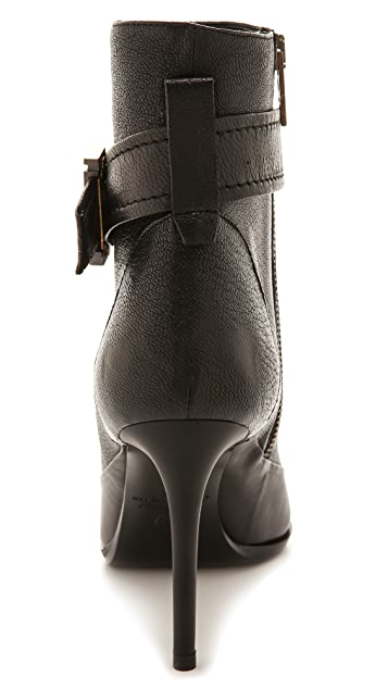 McQ - Alexander McQueen Lex Razor Ankle Strap Booties