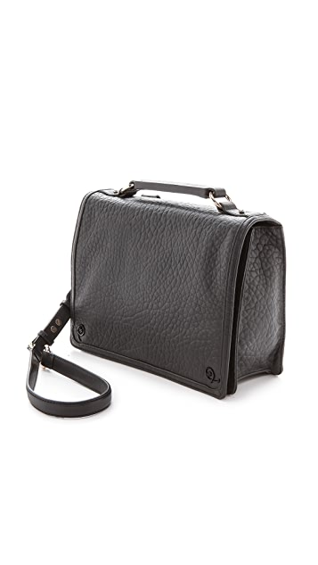 McQ - Alexander McQueen Bubble Leather Satchel